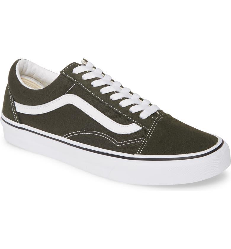 VANS Old Skool Sneaker, Main, color, FOREST NIGHT/ TRUE WHITE