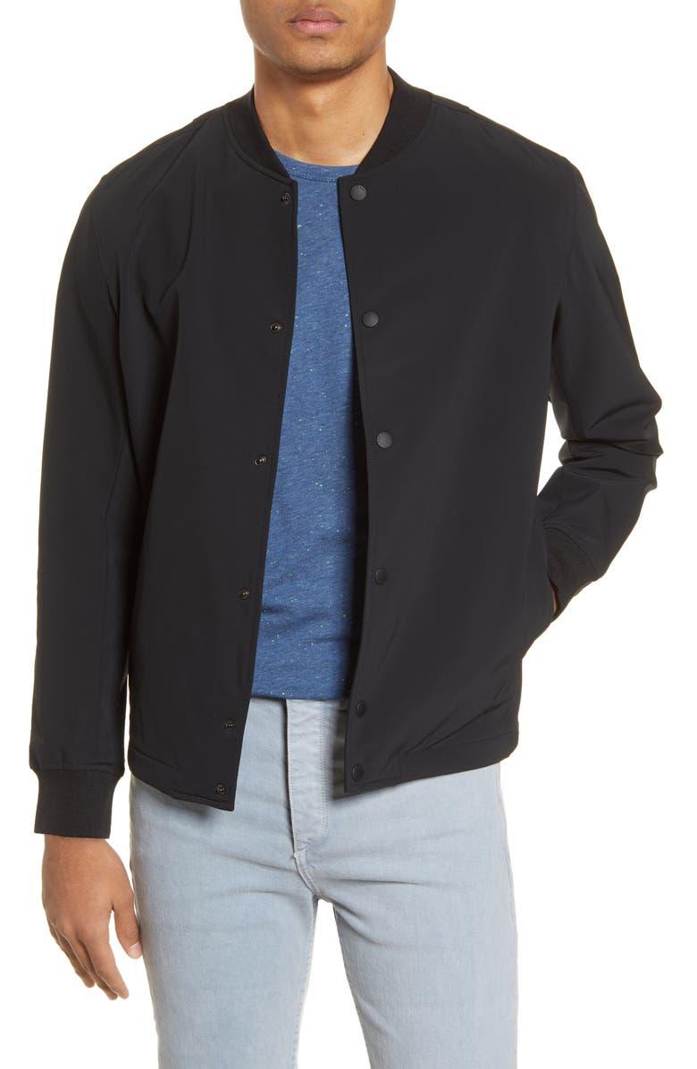 RAG & BONE Tech Focus Slim Fit Bomber Jacket, Main, color, BLACK