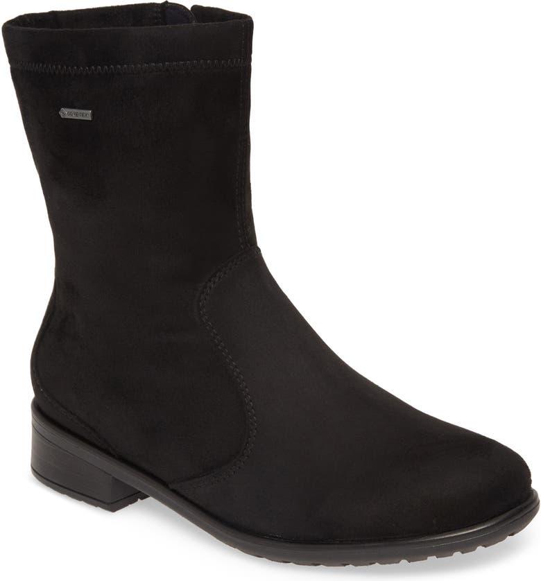 ARA Liberty Waterproof Gore-Tex<sup>®</sup> Bootie, Main, color, BLACK FABRIC