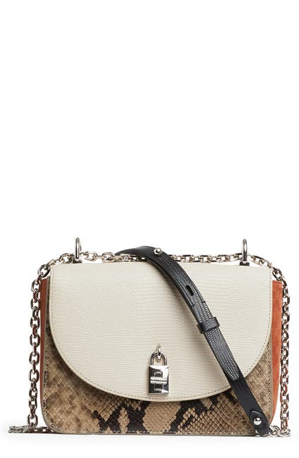 Image of Rebecca Minkoff Love Too Snakeskin Embossed Crossbody Bag