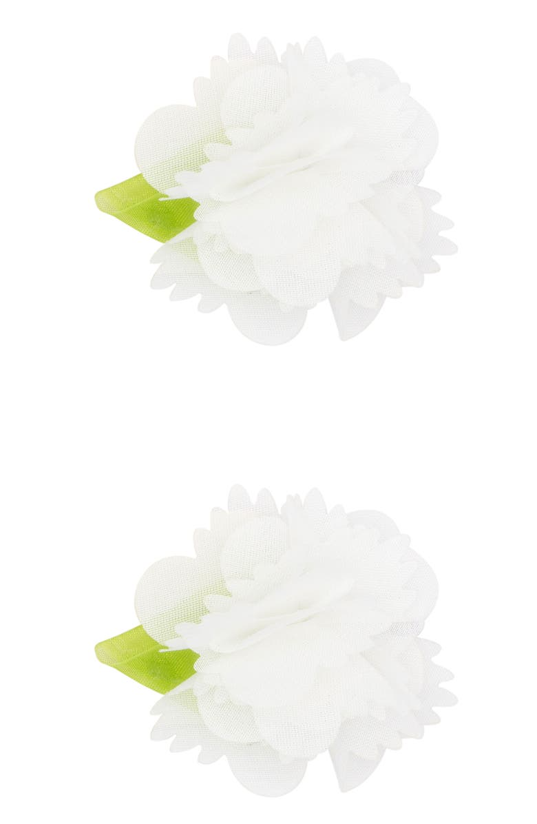 PLH BOWS 2-Pack Chiffon Flower Hair Clips, Main, color, 100