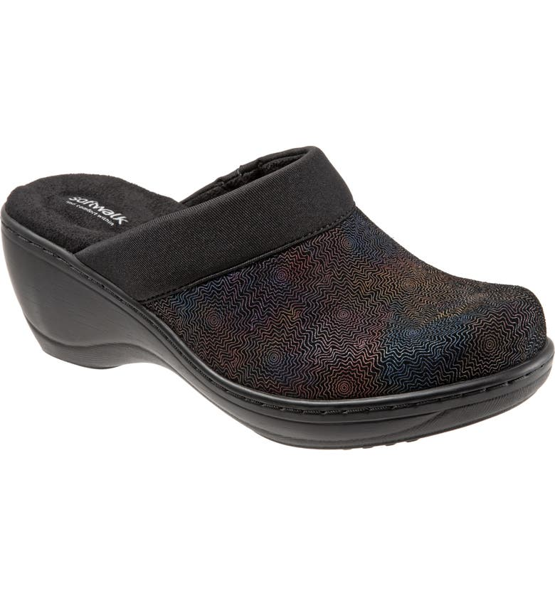 SOFTWALK<SUP>®</SUP> 'Murietta' Clog, Main, color, BLACK MULTI LEATHER