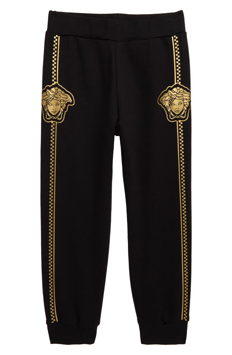 VERSACE Medusa Logo Sweatpants, Main, color, BLACK/ GOLD
