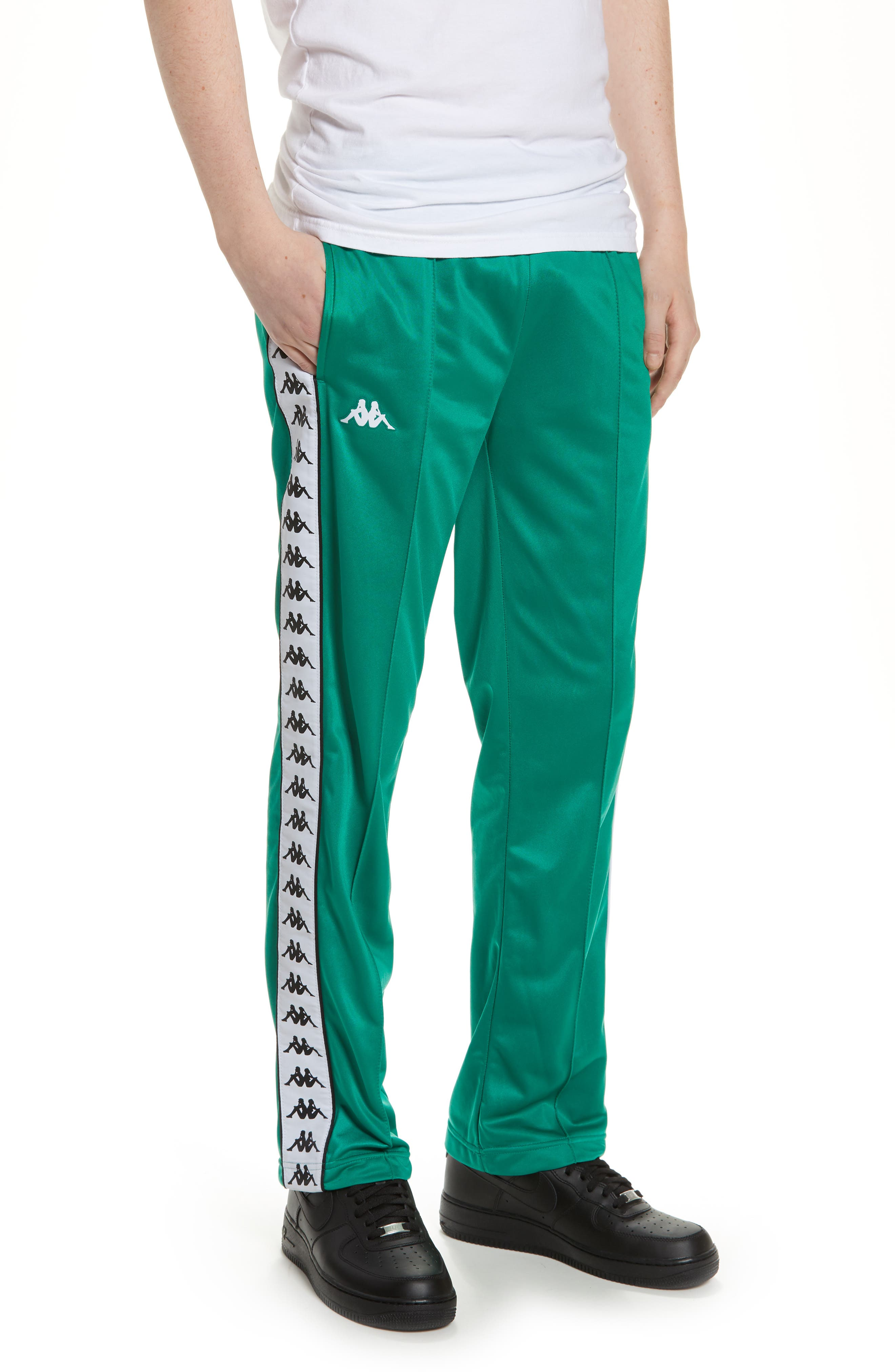 ,                             Active 222 Banda Astoriazz Slim Track Pants,                             Main thumbnail 1, color,                             GREEN/ BLACK/ WHITE