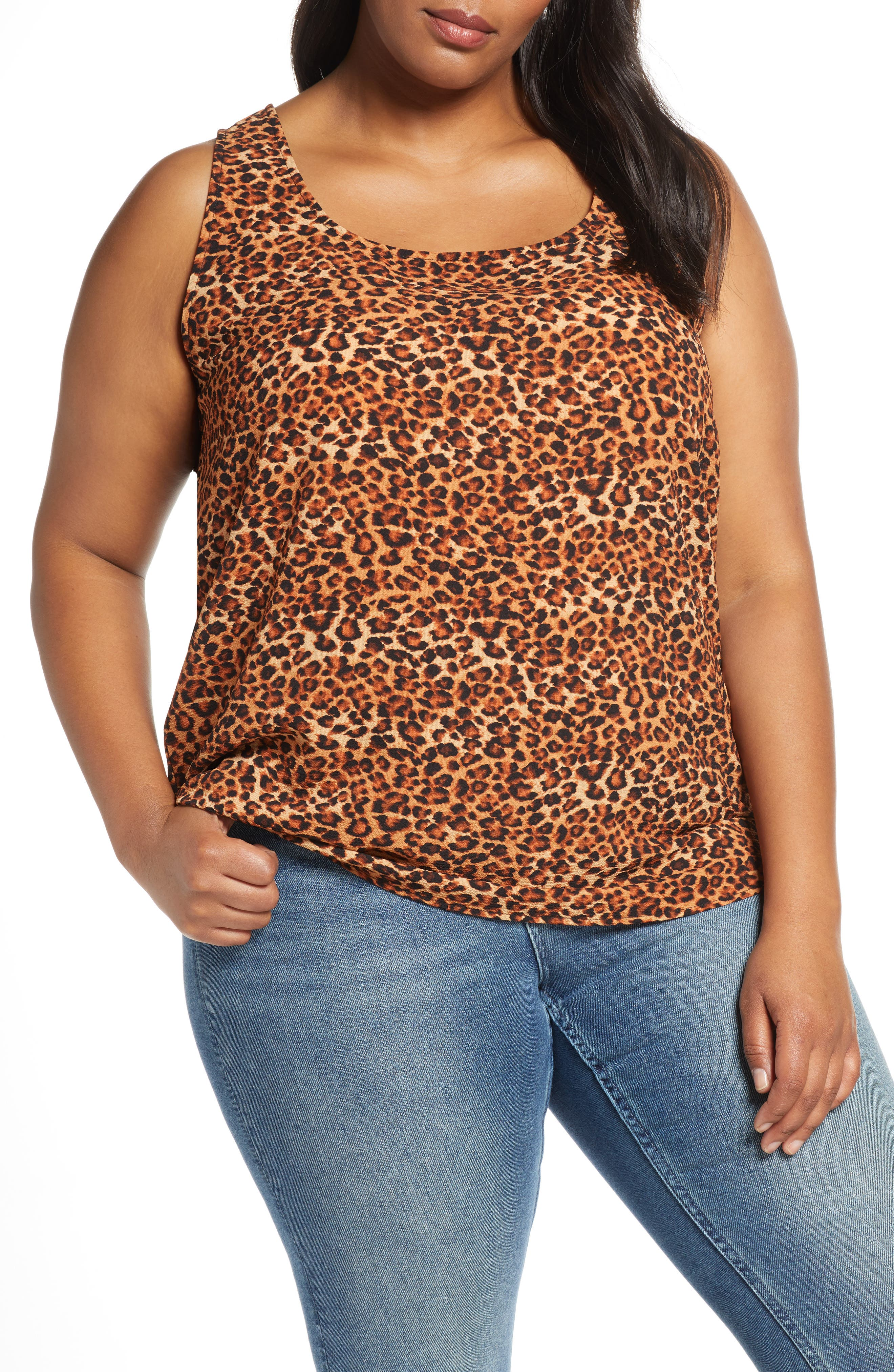 Plus Size Women's Loveapella Easy Scoop Neck Tank Top