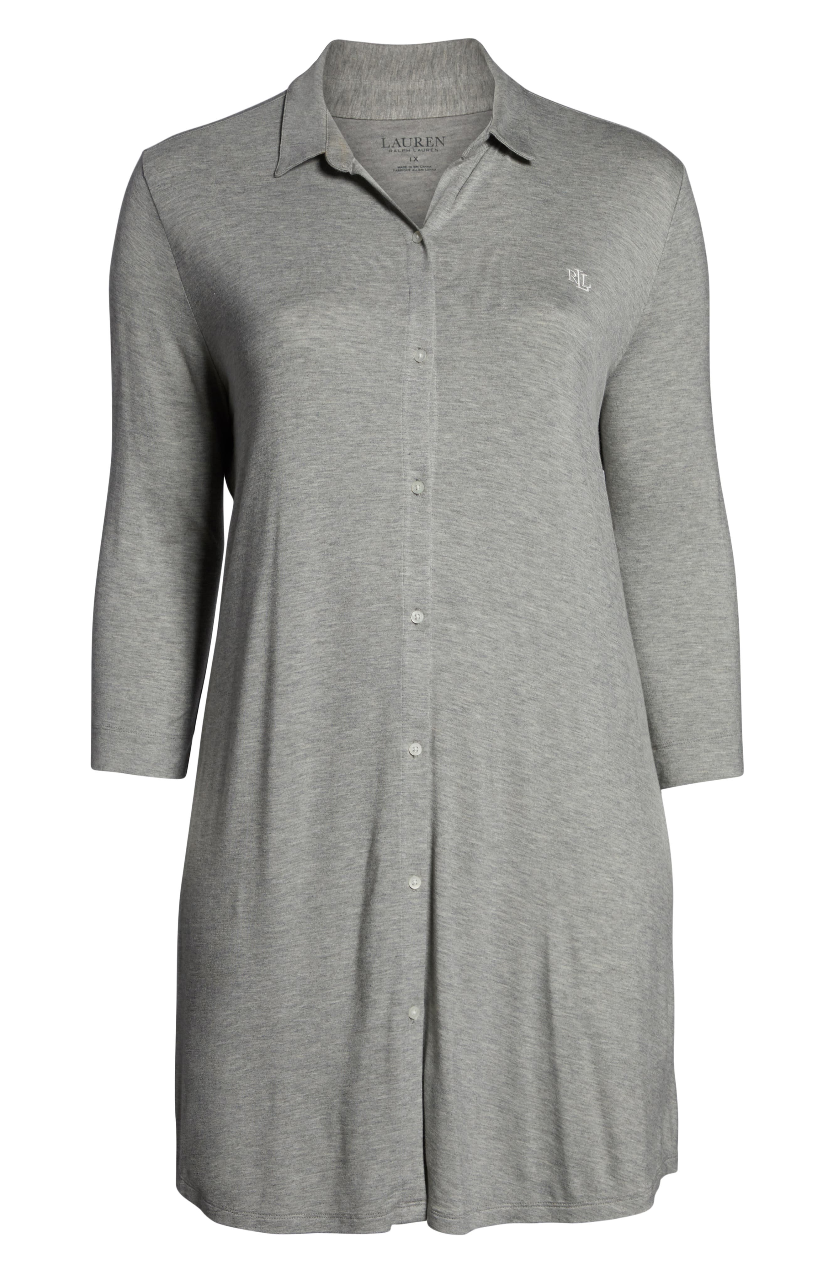 ,                             Sleep Shirt,                             Alternate thumbnail 6, color,                             GREY