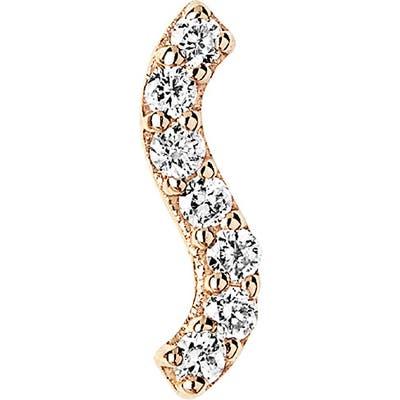 Maria Black Diamond Wave Single Stud Earring