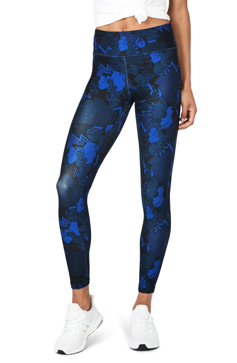 SWEATY BETTY Contour Leggings, Main, color, BLUE QUARTZ PEACE PRINT