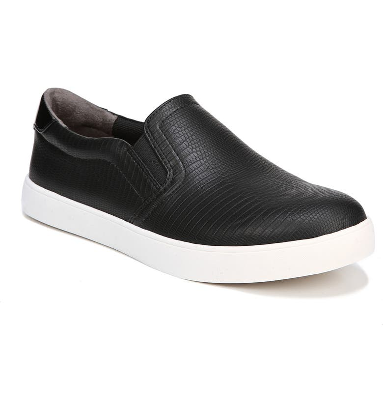 DR. SCHOLL'S Madison Slip-On Sneaker, Main, color, BLACK FAUX LEATHER