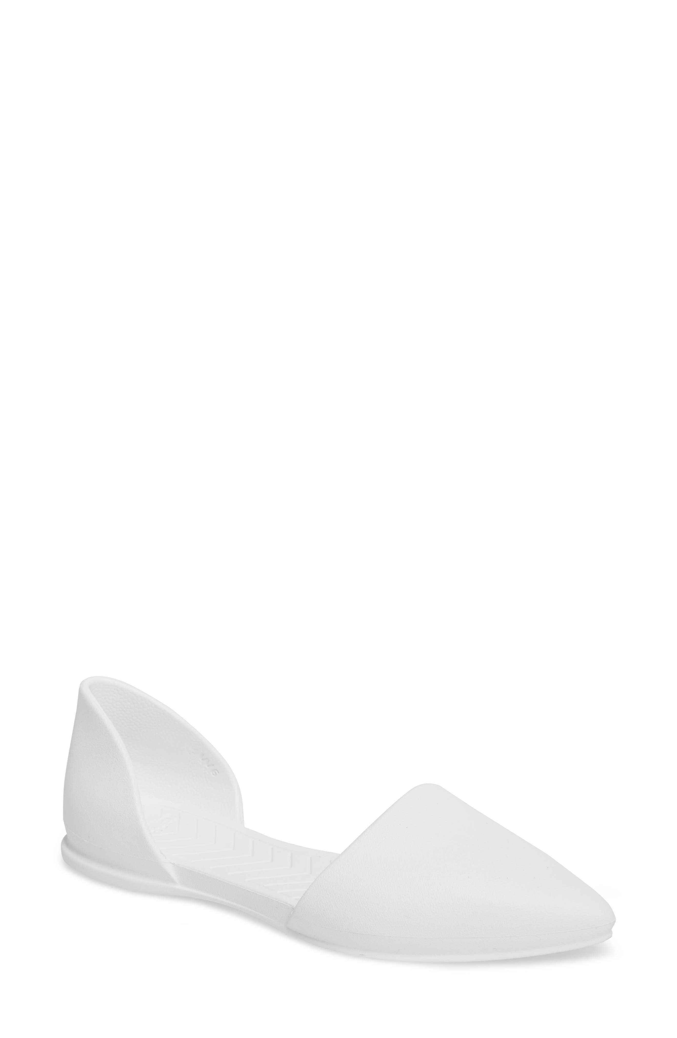 Native Shoes Audrey Vegan Open Sided Flat, White