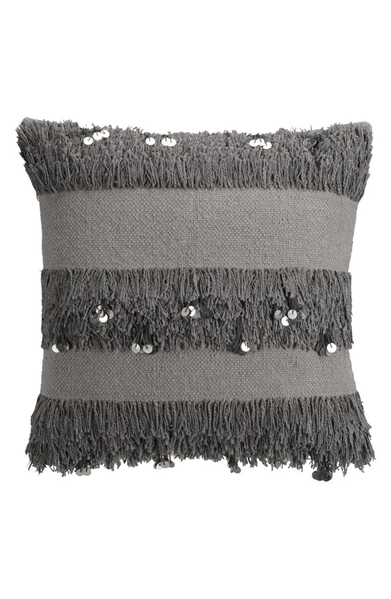 CUPCAKES AND CASHMERE cupcakes & cashmere Sequin Fringe Pillow, Main, color, 020