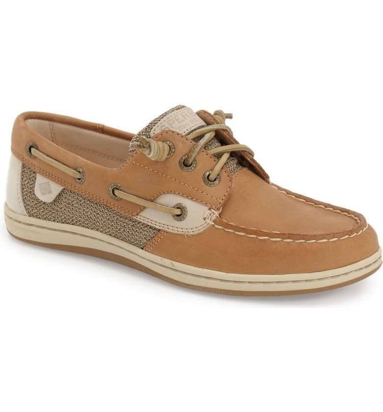 SPERRY 'Songfish' Boat Shoe, Main, color, LINEN/ OAT