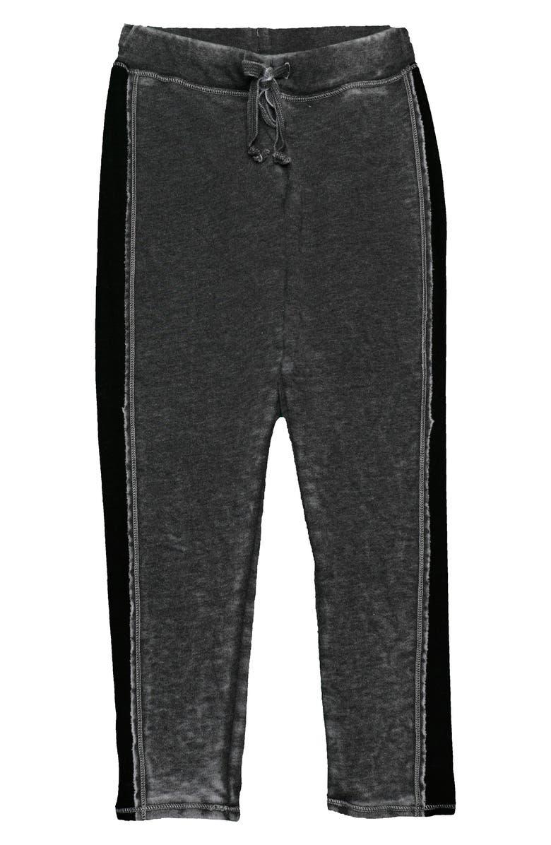 T2 LOVE Side Stripe Jogger Pants, Main, color, BLACK