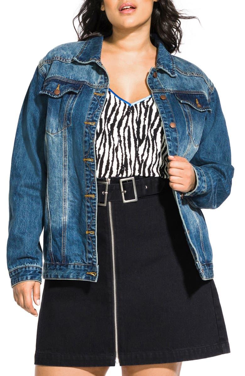 City Chic Denim Jacket Plus Size