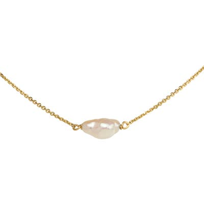 Wwake Irregular Pearl Necklace