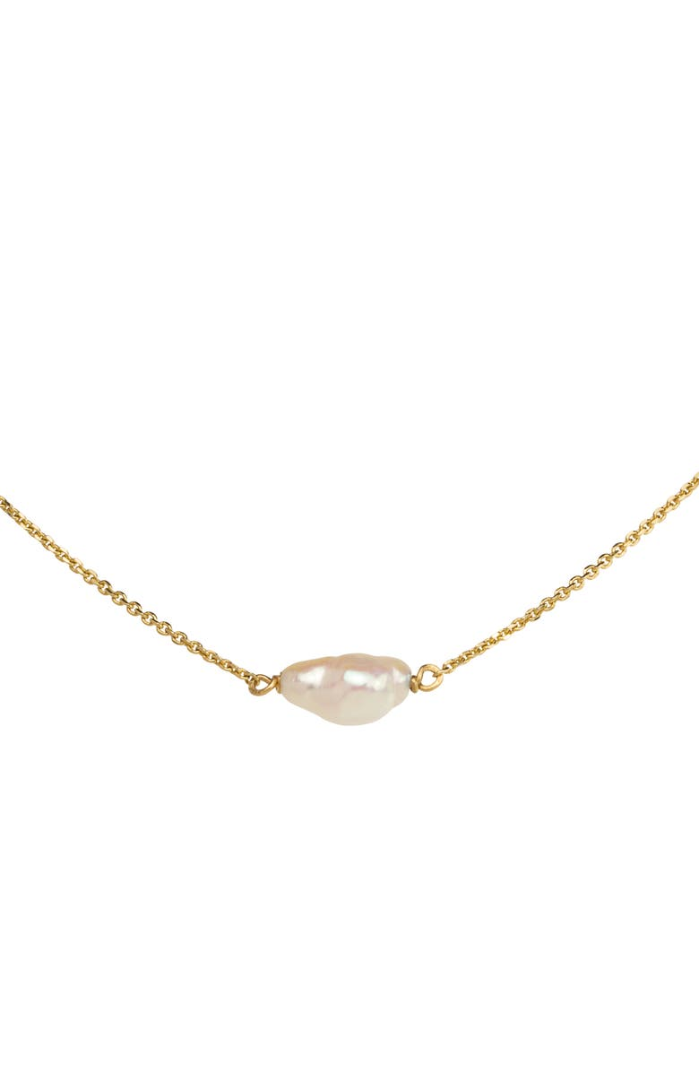 WWAKE Irregular Pearl Necklace, Main, color, YELLOW GOLD/ PEARL