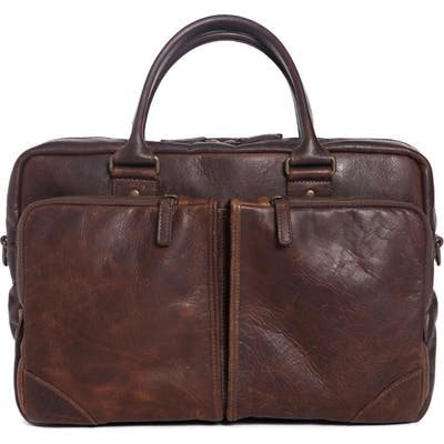 Moore & Giles Haythe Leather Briefcase - Brown