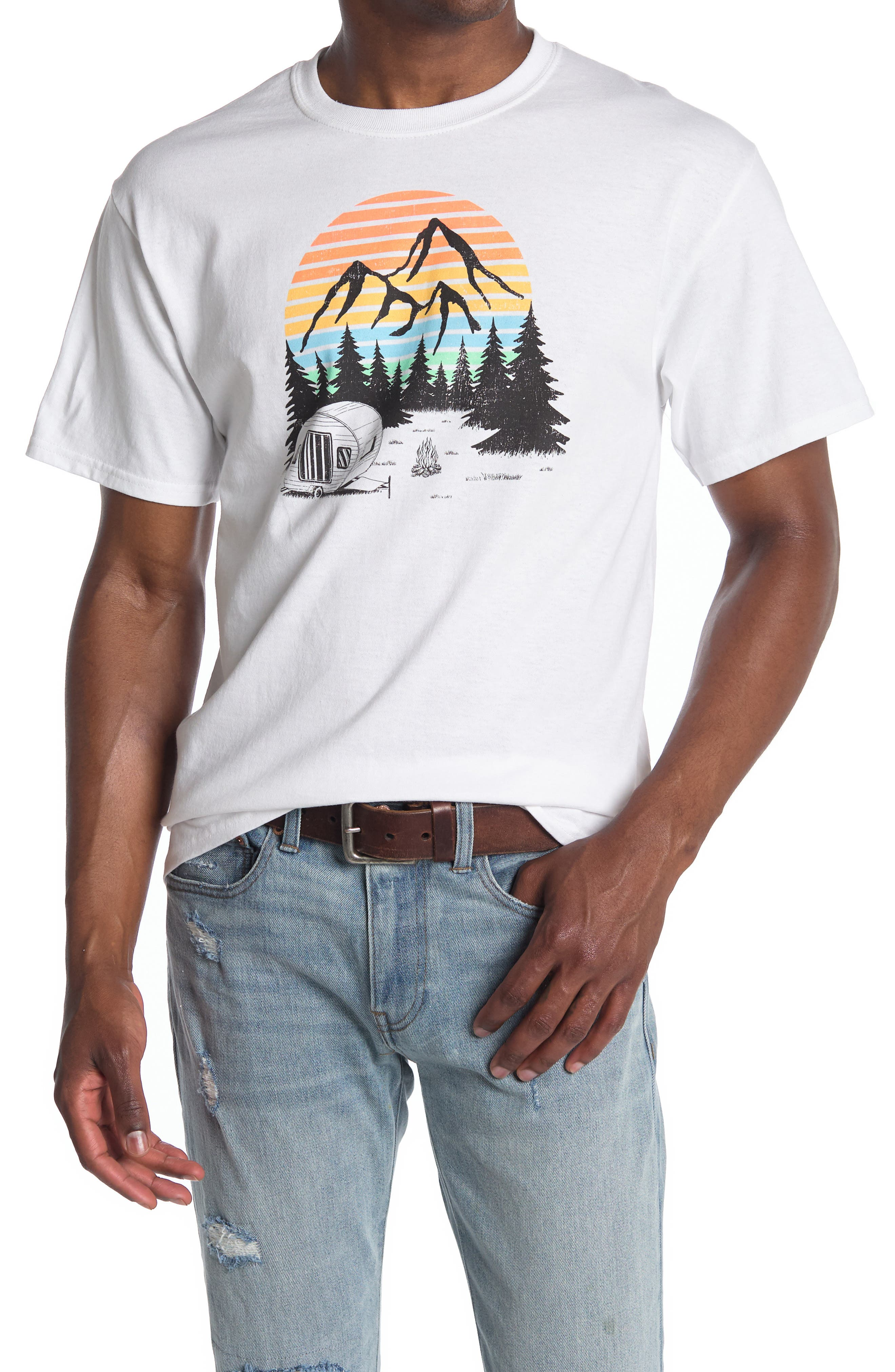 Image of American Needle Camping Graphic T-Shirt