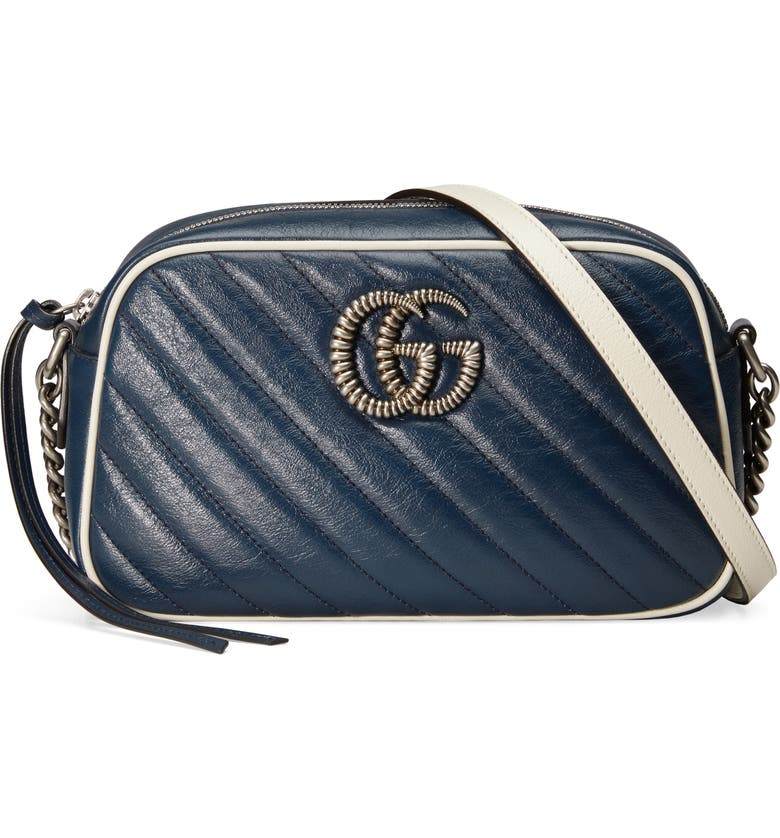 Small Gg Marmont 2.0 Quilted Leather Shoulder Bag by Gucci