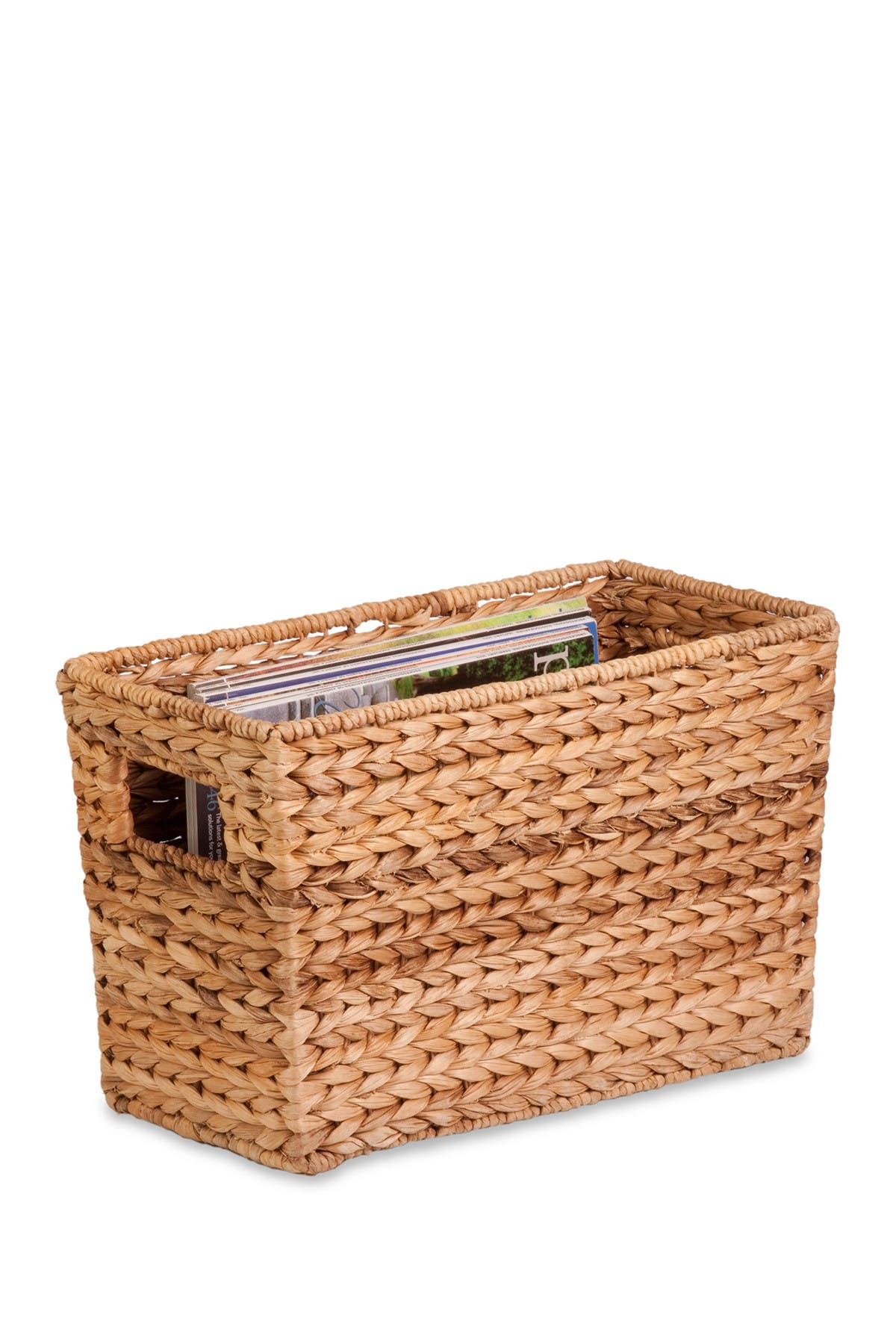 Image of Honey-Can-Do Water Hyacinth Natural Magazine Basket