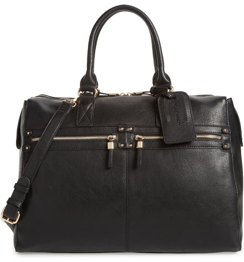 SOLE SOCIETY Zypa Faux Leather Weekend Bag, Main, color, 001