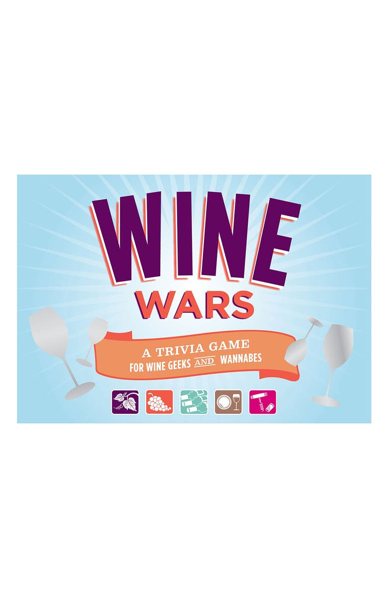 CHRONICLE BOOKS 'Wine Wars' Trivia Game, Main, color, 960