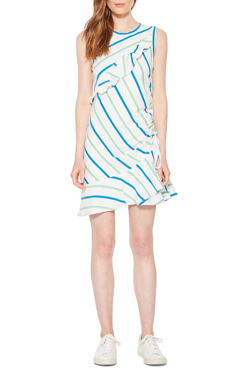 PARKER Francie Ruffle Sleeveless Dress, Main, color, GRASS STRIPE