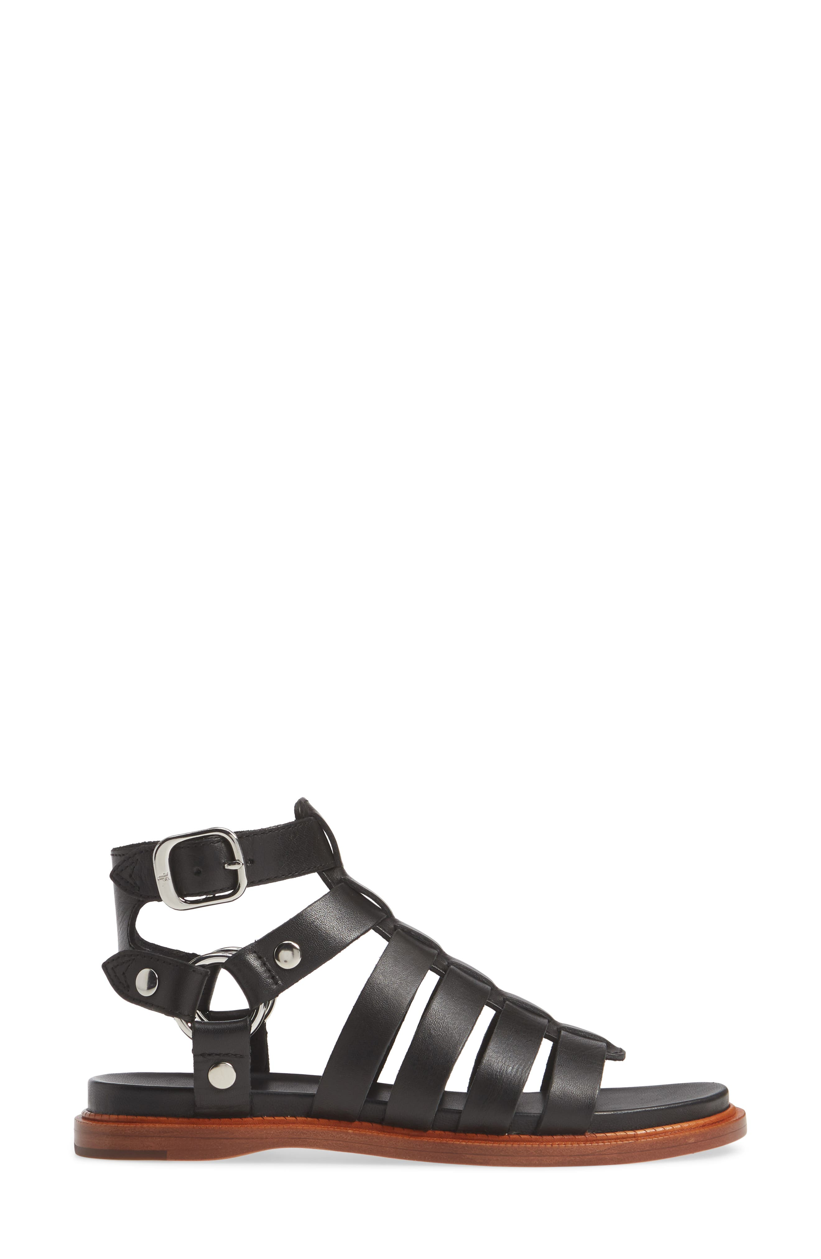 ,                             Andora Gladiator Sandal,                             Alternate thumbnail 4, color,                             BLACK