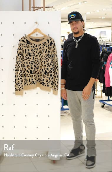 Leopard Spot Crewneck Pullover, sales video thumbnail