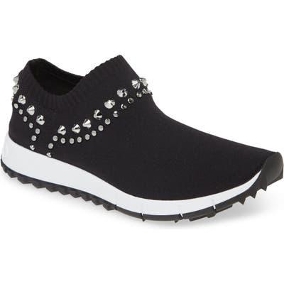 Jimmy Choo Verona Studded Knit Sneaker - Black
