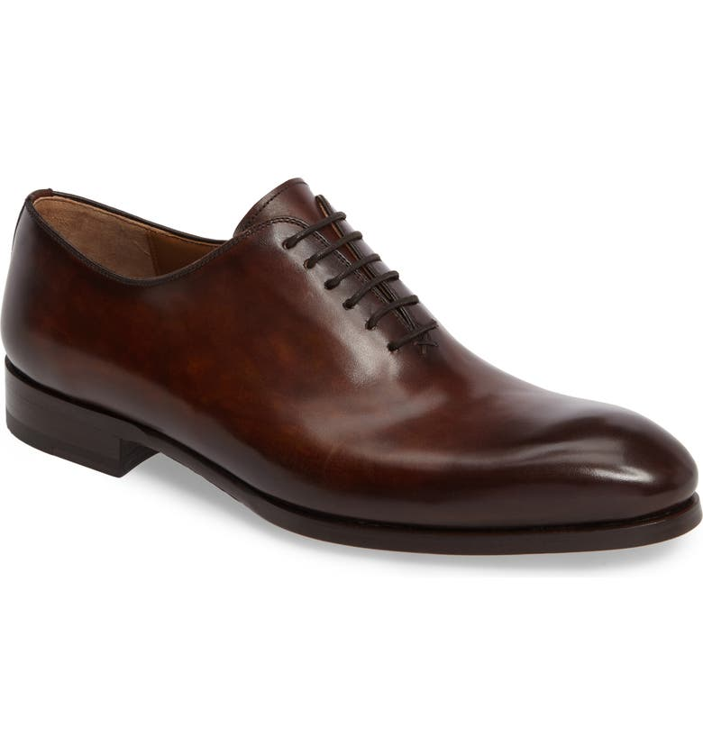 MAGNANNI Montay Wholecut Oxford, Main, color, TABACO LEATHER