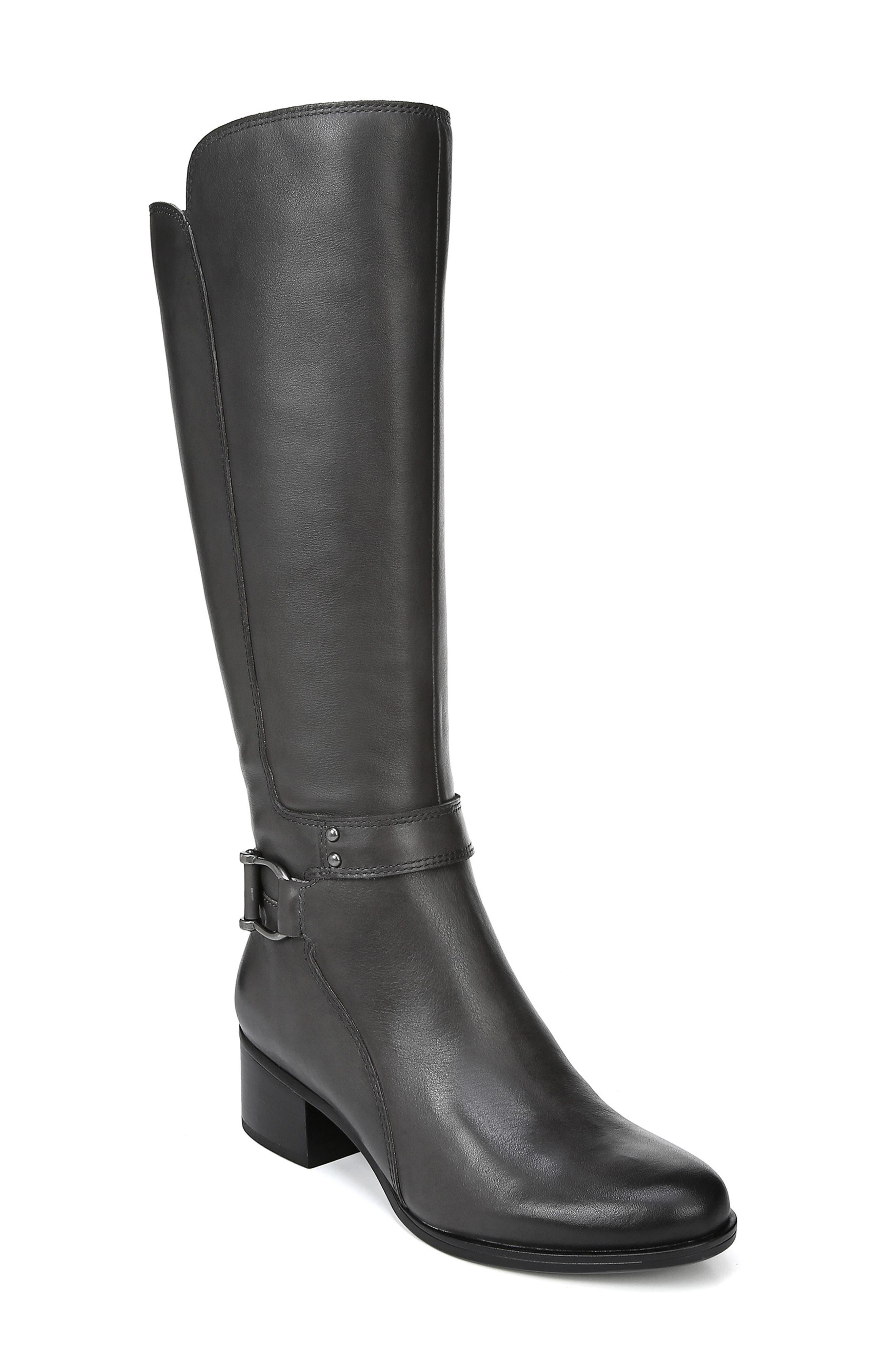 Naturalizer Dane Knee High Riding Boot, Regular Calf W - Grey