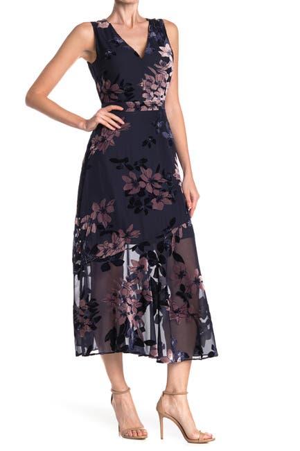 Image of Sam Edelman Vintage Floral Burnout Maxi Dress