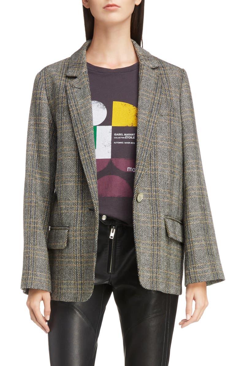 ISABEL MARANT ÉTOILE Charly Wool Blazer, Main, color, BEIGE
