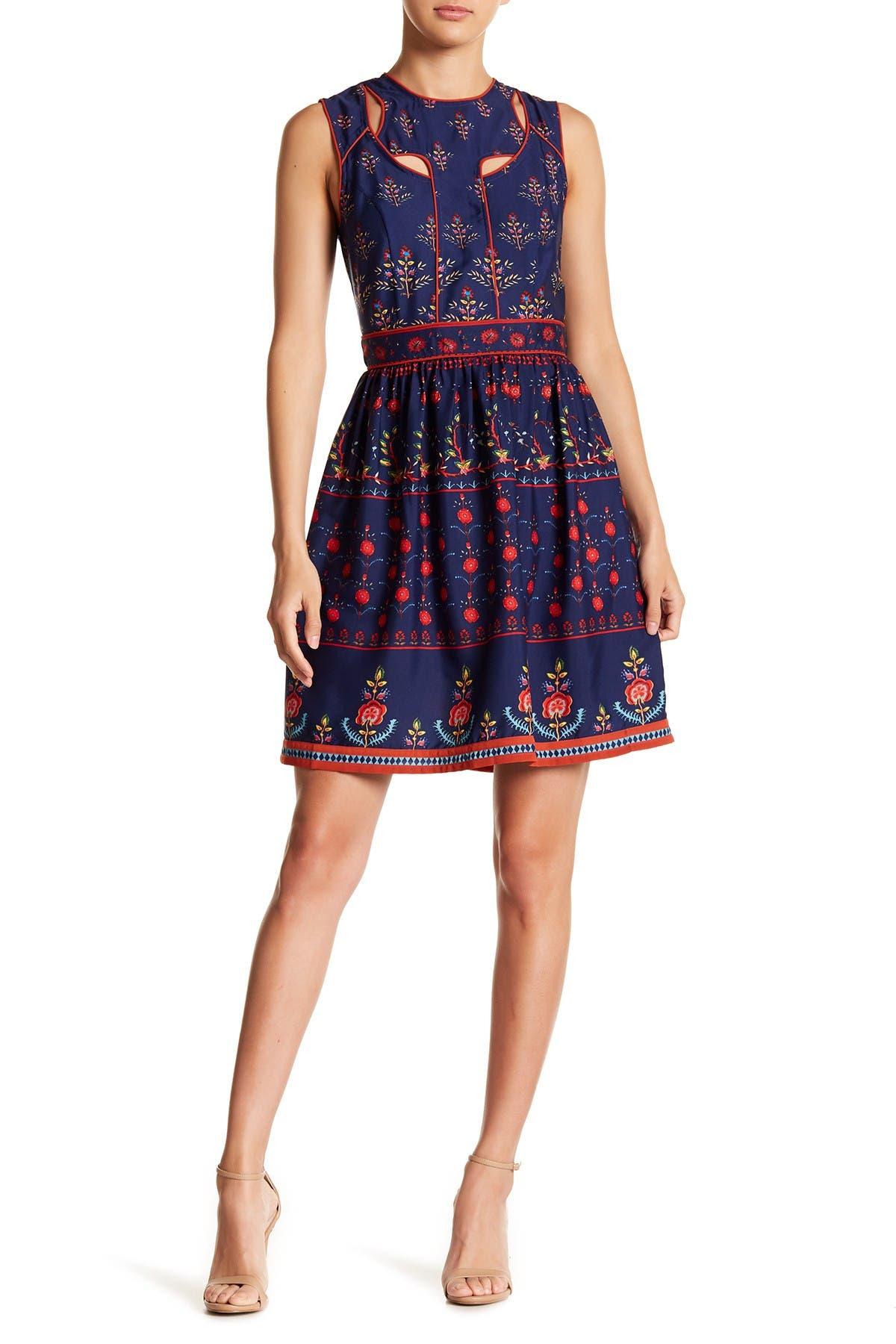 Image of Alexia Admor Jewel Neck Cutout Dress