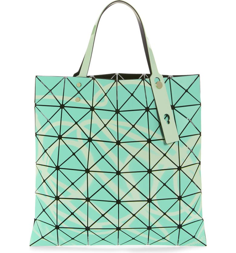 BAO BAO ISSEY MIYAKE Neon Prism Tote, Main, color, LIGHT GREEN