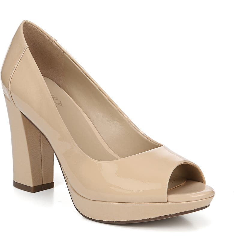 NATURALIZER Amie Pump, Main, color, NUDE PATENT LEATHER