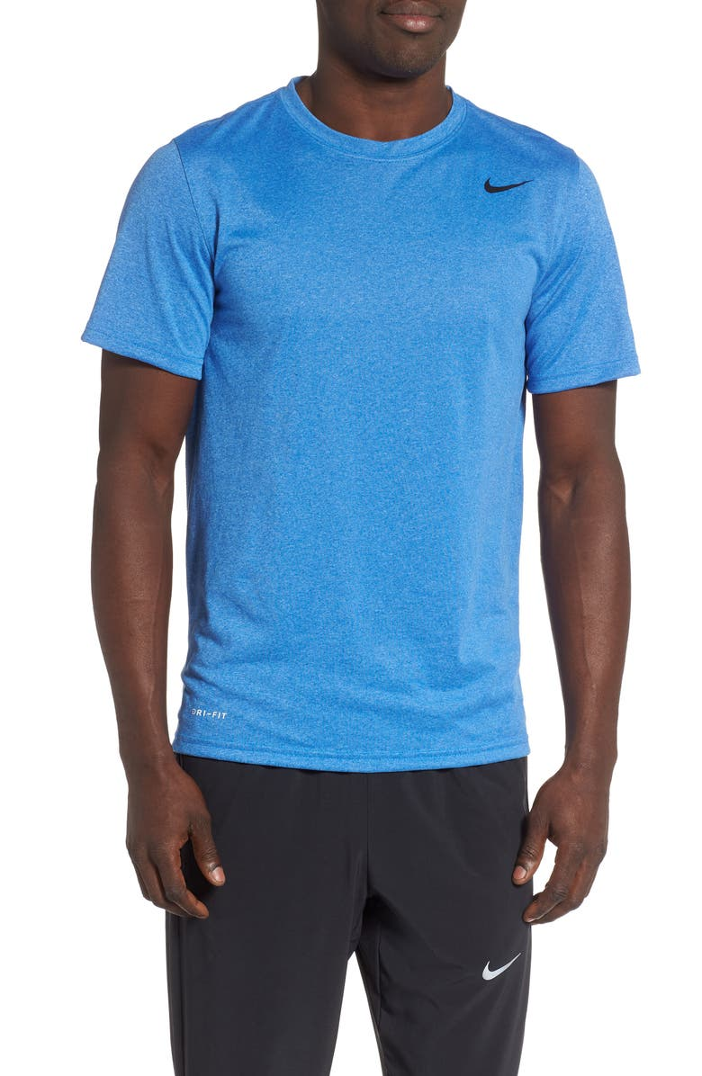NIKE Legend 2.0 Dri-FIT Training T-Shirt, Main, color, LIGHT GAME HEATHER/BLACK