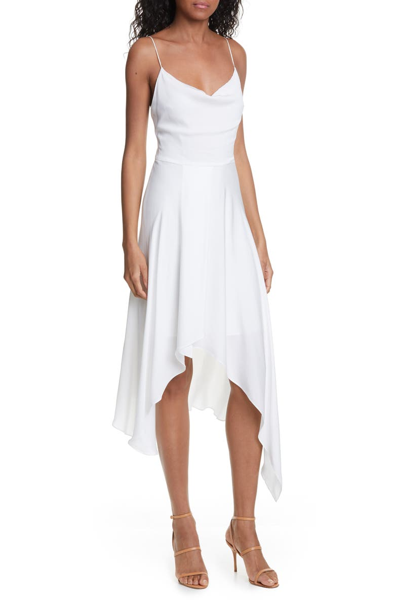 Alice Olivia Alita Drape Detail Asymmetrical Hem Dress