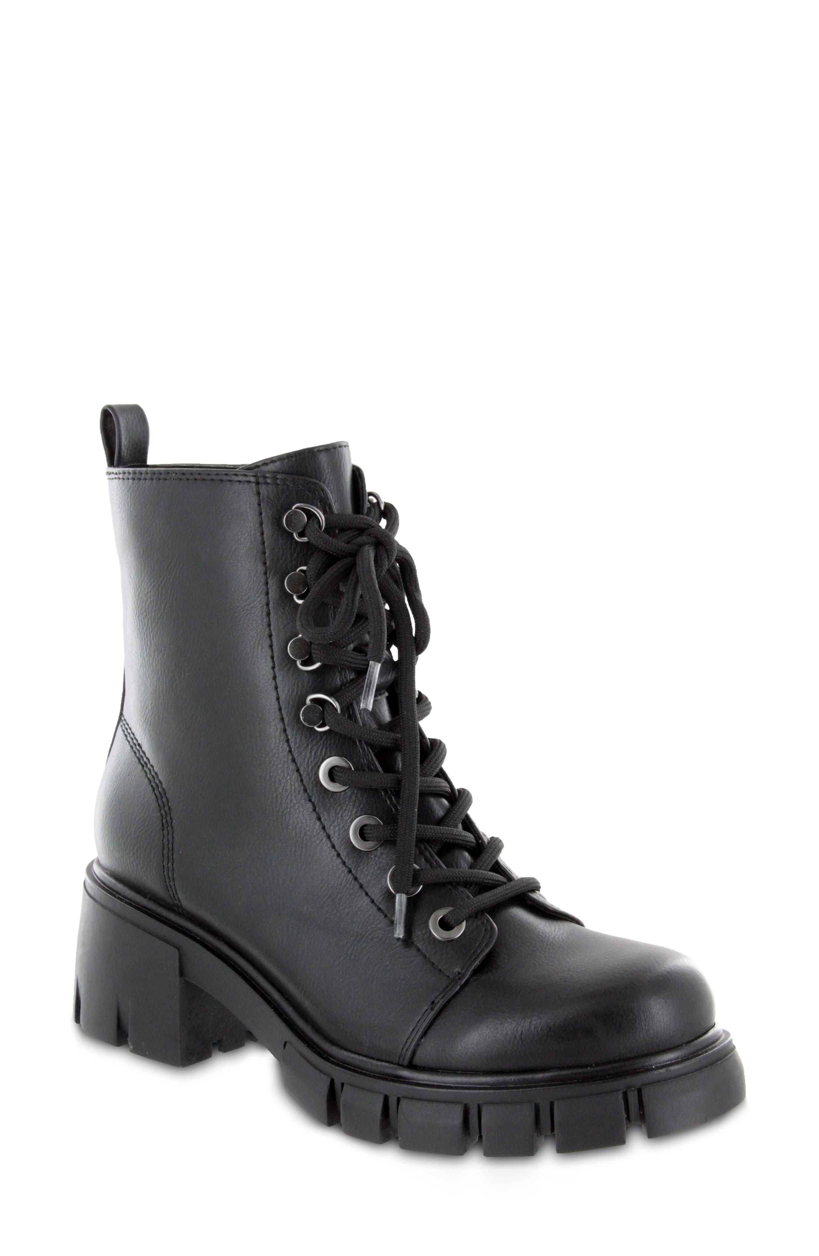 Women s Mia Mila Combat Boot E579