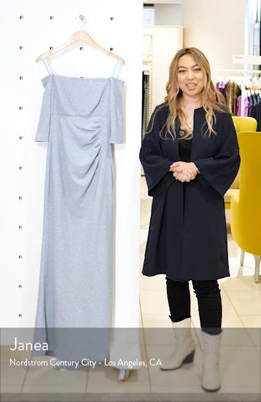 Off the Shoulder Glitter Gown, sales video thumbnail