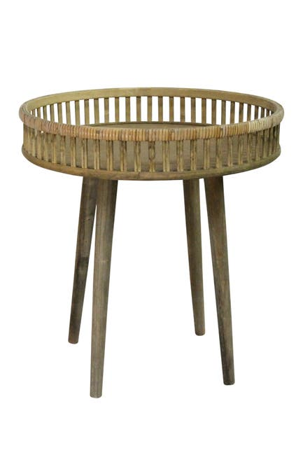 Image of Stratton Home Brown Rattan Side Table