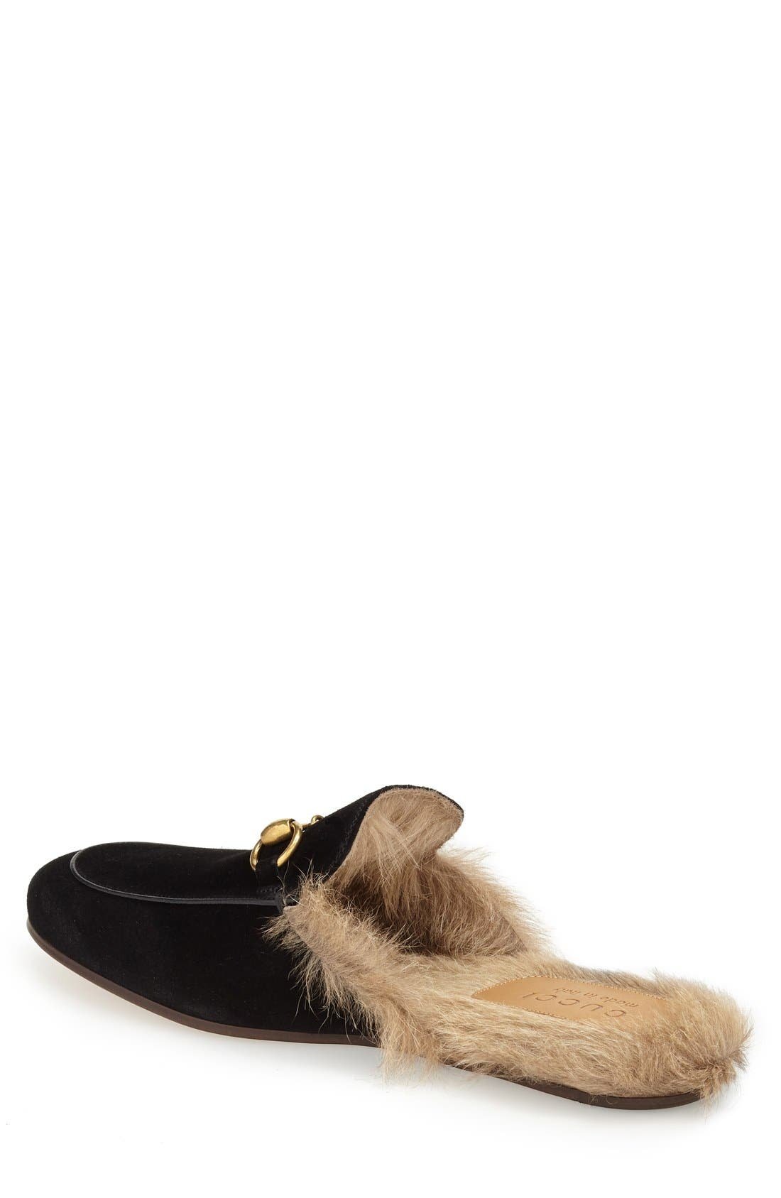 ,                             Princetown Genuine Shearling Lined Mule Loafer,                             Alternate thumbnail 9, color,                             002