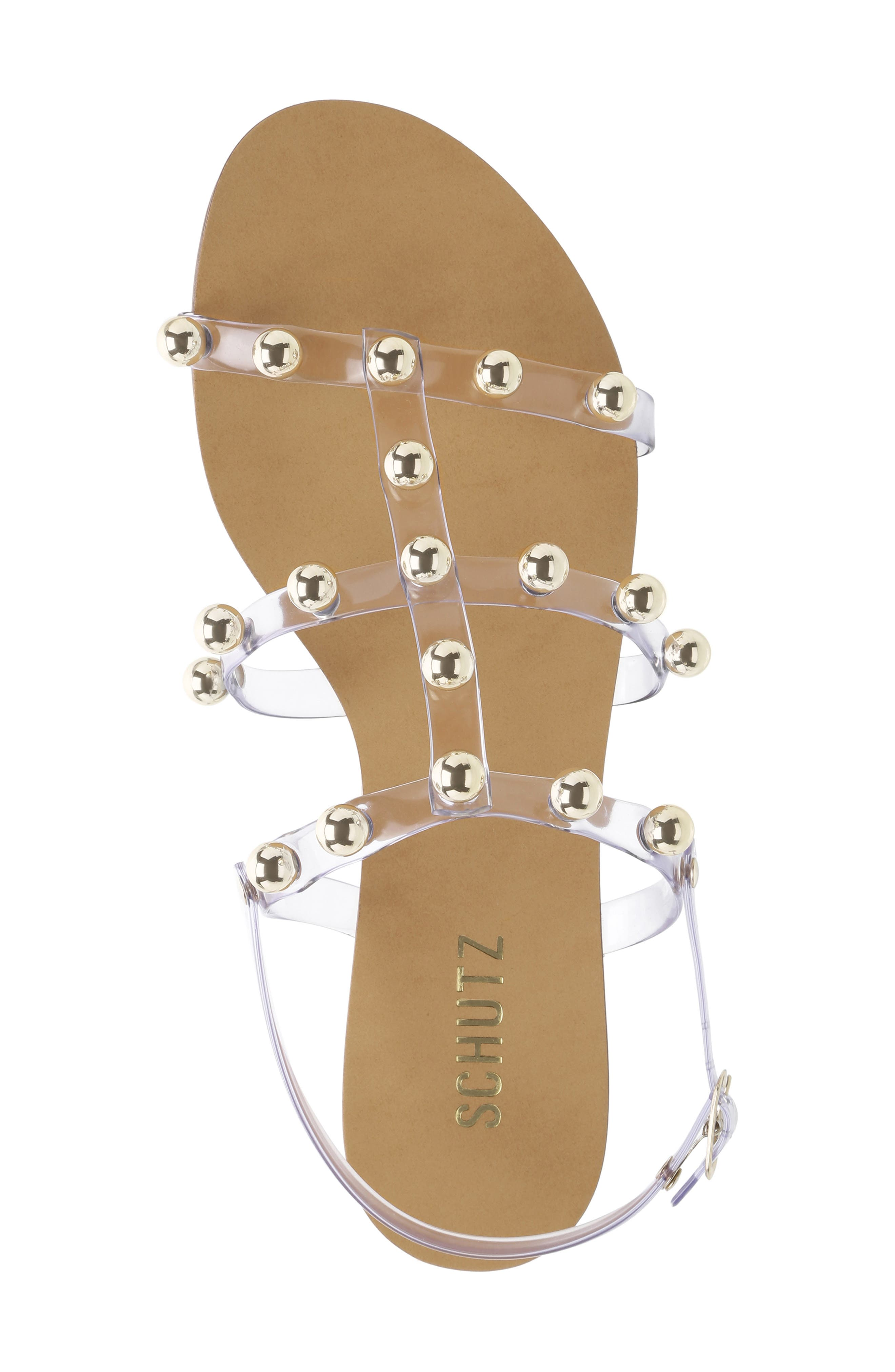 ,                             Yarin Sandal,                             Alternate thumbnail 4, color,                             TRANSPARENTE LEATHER