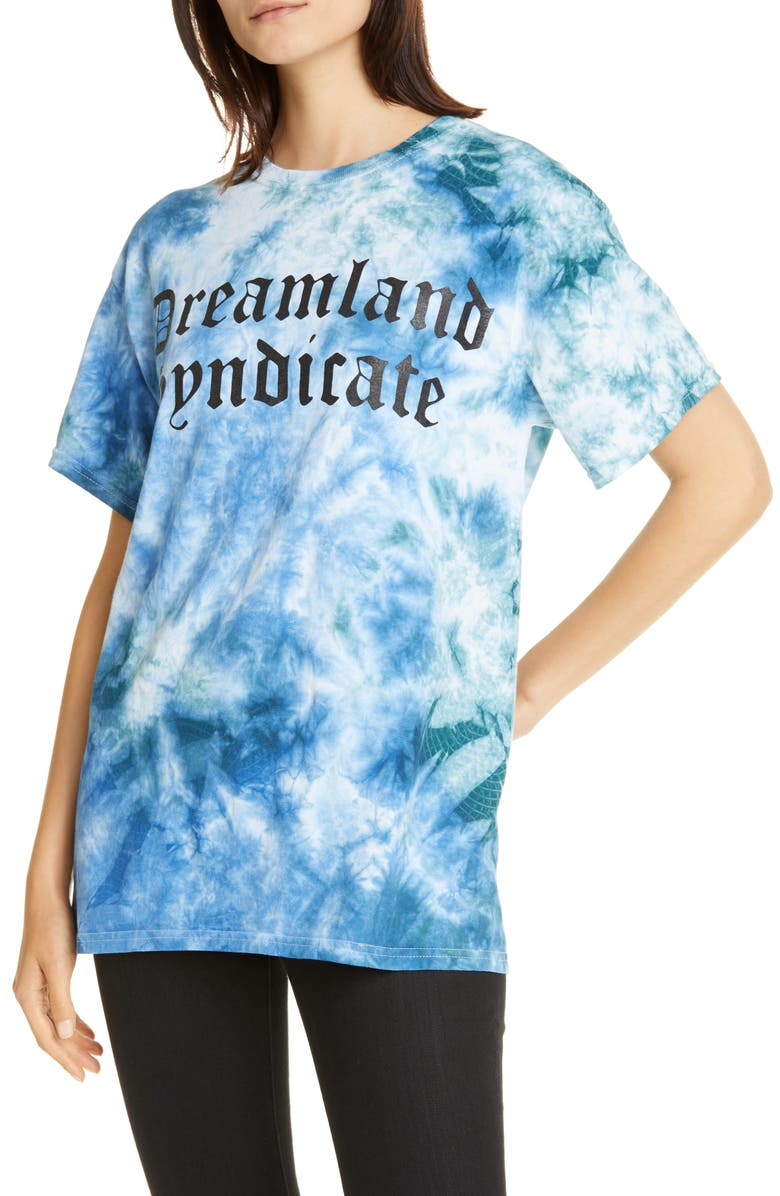 DREAMLAND SYNDICATE Ocean Tie Dye Tee, Main, color, 400