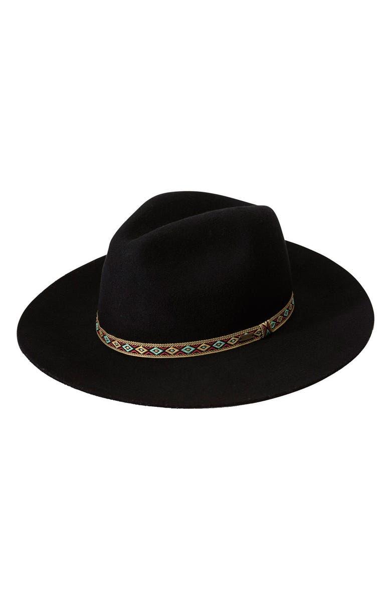VOLCOM 'Buckaroo' Fedora Hat, Main, color, 001