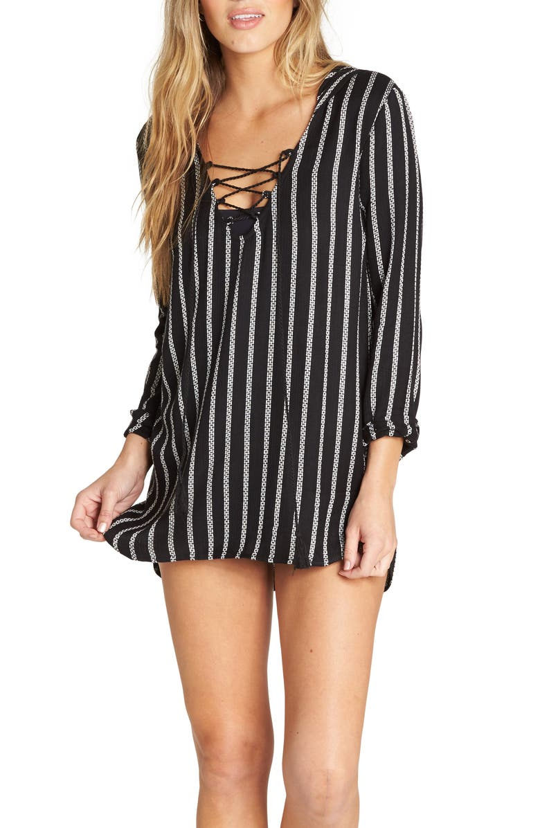 BILLABONG Same Story Hooded Cover-Up Tunic, Main, color, 012