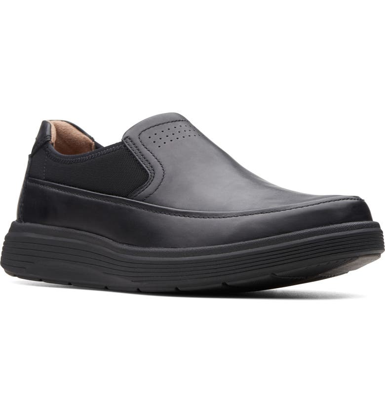 CLARKS<SUP>®</SUP> Un Abode Go Loafer, Main, color, BLACK LEATHER