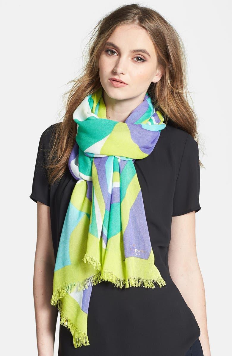 KATE SPADE NEW YORK 'carnival swirl' scarf, Main, color, 311