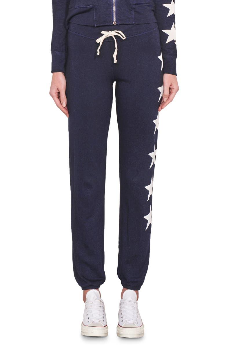 SUNDRY Stars Sweatpants, Main, color, NAVY